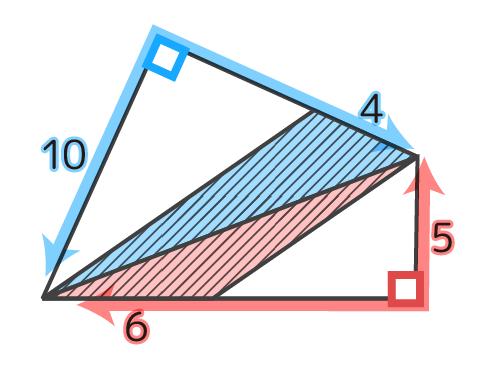 直角を延長する、四角形の分割方向が分かる。